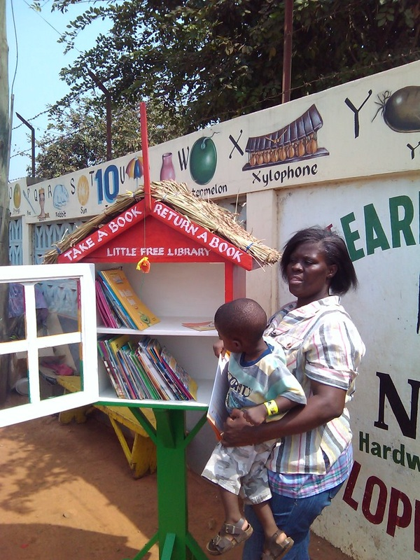Little free library in Ghana