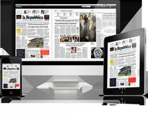La Repubblica nell'Edicola digitale
