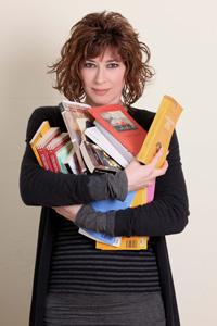 Veronica Pivetti presentatrice di Un pugno di libri