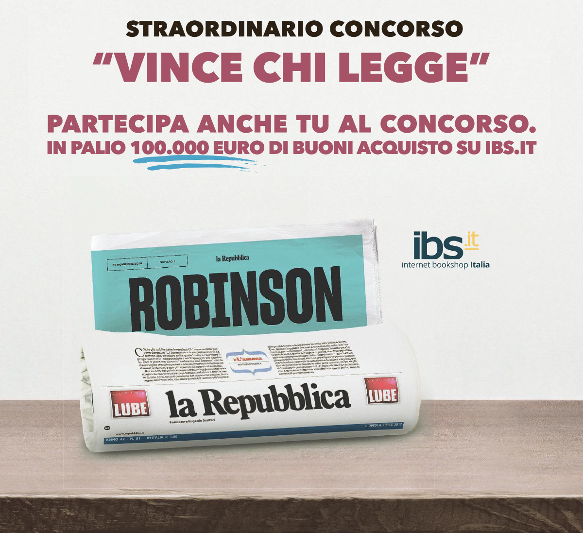 Vince chi legge Robinson