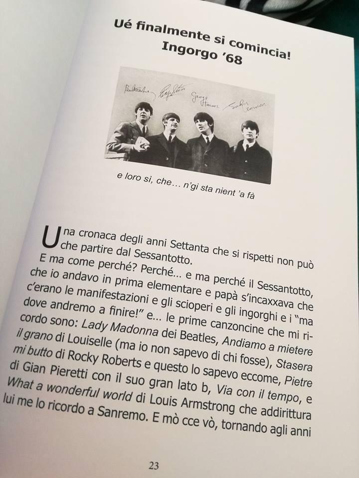 Settanta revisited - Pagina libro - Carlo Crescitelli